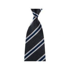 Krawaty męskie: Krawat szary paski
