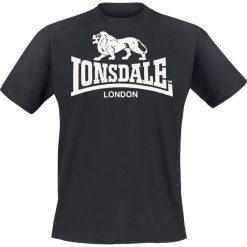 Lonsdale London Logo T-Shirt czarny. Czarne t-shirty męskie z nadrukiem marki Lonsdale London, m, z okrągłym kołnierzem. Za 62,90 zł.