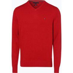 Tommy Hilfiger - Sweter męski z dodatkiem kaszmiru, czerwony. Czarne swetry klasyczne męskie marki TOMMY HILFIGER, l, z dzianiny. Za 449,95 zł.