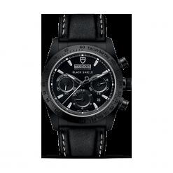 ZEGAREK TUDOR FASTRIDER BLACK SHIELD 42000CN STRAP BLACK INDEX W. Czarne zegarki męskie TUDOR, ceramiczne. Za 20390,00 zł.