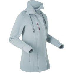 Bluzy polarowe: Długa bluza z polaru, długi rękaw bonprix srebrnoszary