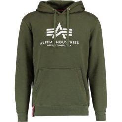 Bejsbolówki męskie: Alpha Industries BASIC HOODY Bluza z kapturem dark green