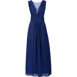 Długa sukienka bonprix kobaltowy. Niebieskie długie sukienki marki bonprix, z nadrukiem. Za 189,99 zł.