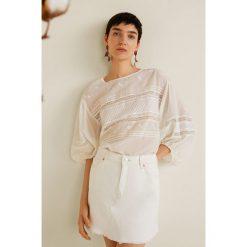 Mango - Spódnica Musthave. Szare minispódniczki Mango, l, z bawełny, proste. Za 119,90 zł.