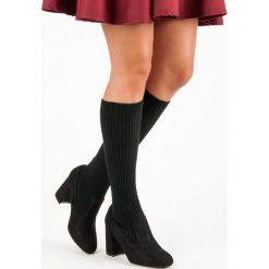 DOPASOWANE KOZAKI CZARNE. Czarne buty zimowe damskie SEASTAR. Za 79,90 zł.