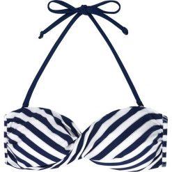 """Biustonosz bikini """"Ambrosia"""" w kolorze biało-granatowym. Szare bikini marki Esprit. W wyprzedaży za 34,95 zł."""