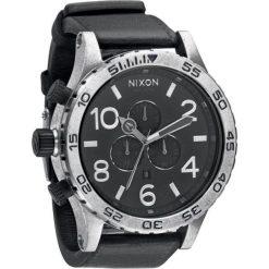 Zegarki męskie: Zegarek męski Antique Silver Black Nixon 51-30 Chrono leather A1241479