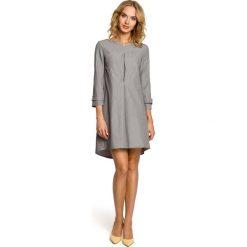 Sukienki: Rozkloszowana sukienka z szerokimi rękawami - szara