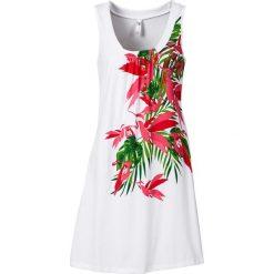 Sukienki hiszpanki: Sukienka plażowa bonprix biały