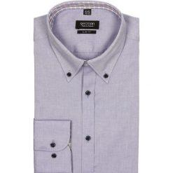 Koszula mells 1949 długi rękaw slim fit w. Szare koszule męskie na spinki Recman, na lato, m, z bawełny, button down, z długim rękawem. Za 29,99 zł.