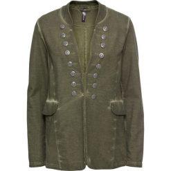Bluzy rozpinane damskie: Bluza rozpinana bonprix oliwkowy