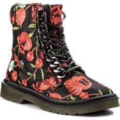 Botki STEVE MADDEN - Punkster Ankle Boot 91000545-0S0-09026-16010 Floral Multi. Czarne botki damskie na obcasie marki Steve Madden, z materiału. W wyprzedaży za 439,00 zł.