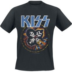 Kiss Skull Circle T-Shirt czarny. Czarne t-shirty męskie marki Kiss, l. Za 74,90 zł.