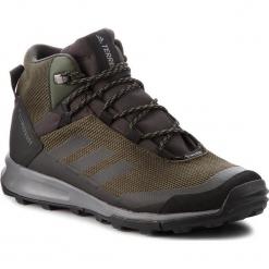 Buty adidas - Terrex Tivid Mid Cp AC8042 Ngtcar/Cblack/Grefou. Zielone buty trekkingowe męskie marki Adidas, z materiału, outdoorowe, adidas terrex, climaproof (adidas). W wyprzedaży za 409,00 zł.
