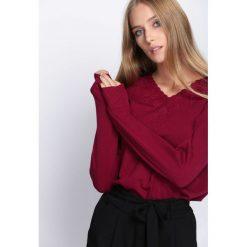 Swetry klasyczne damskie: Bordowy Sweter Free Dance