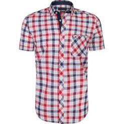 """Koszule męskie na spinki: Koszula """"Pau"""" w kolorze granatowo-czerwono-białym"""