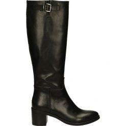 Kozaki - 2559G NAT NER. Czarne buty zimowe damskie marki Venezia, ze skóry. Za 429,00 zł.