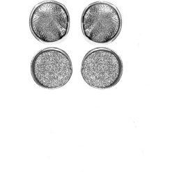 Biżuteria i zegarki: Grafitowe okrągłe kolczyki QUIOSQUE