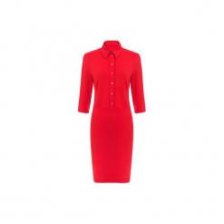 Czerwona sukienka z kołnierzykiem. Czerwone sukienki na komunię marki Bien fashion, na co dzień, s, dopasowane. Za 139,00 zł.