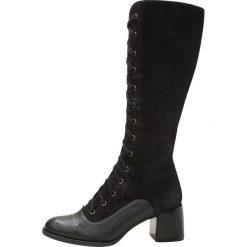 Chie Mihara ODUBI Kozaki sznurowane black. Czarne buty zimowe damskie Chie Mihara, z materiału. W wyprzedaży za 1424,25 zł.