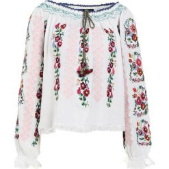 Bluzki damskie: Needle & Thread CROSS STITCH FLOWER TOP Bluzka white