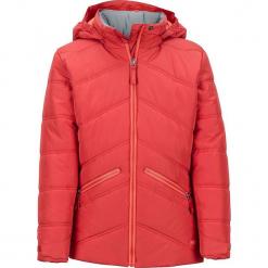 """Kurtka narciarska """"Val D'Sere"""" w kolorze czerwonym. Czerwone kurtki dziewczęce przeciwdeszczowe marki Marmot Kids, z materiału. W wyprzedaży za 222,95 zł."""