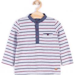 Koszulka. Szare t-shirty chłopięce z długim rękawem ELEGANT BABY BOY, z bawełny. Za 34,90 zł.