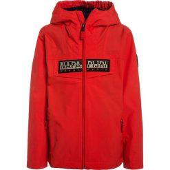 Napapijri RAINFOREST  Kurtka Outdoor bright red. Niebieskie kurtki chłopięce marki Napapijri, z bawełny. Za 499,00 zł.