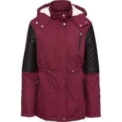 Kurtka zimowa z różnych materiałów bonprix czerwony. Brązowe kurtki damskie zimowe marki QUECHUA, m, z materiału. Za 124,99 zł.