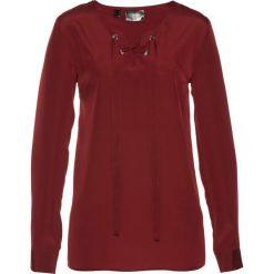 Bluzki asymetryczne: Bluzka ze sznurowaniem bonprix czerwony kasztanowy