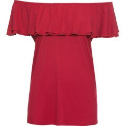 Bluzki damskie: Bluzka shirtowa bonprix ciemnoczerwony