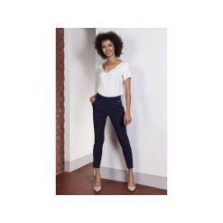 Spodnie z wysokim stanem, SD115. Niebieskie spodnie z wysokim stanem Lanti. Za 139,00 zł.