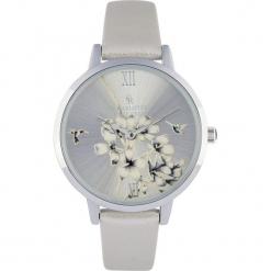 """Zegarek """"Floral"""" w kolorze srebrnym. Szare, analogowe zegarki damskie Stylowe zegarki, srebrne. W wyprzedaży za 139,95 zł."""