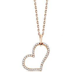 PROMOCJA Wisiorek Złoty - złoto różowe 333, Diament 0,10ct. Szare łańcuszki męskie marki W.KRUK, srebrne. W wyprzedaży za 249,00 zł.
