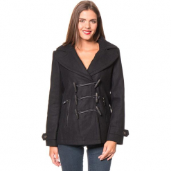 """Kurtka """"Copa"""" w kolorze czarnym. Czarne kurtki damskie marki Assuili, z wełny. W wyprzedaży za 227,95 zł."""