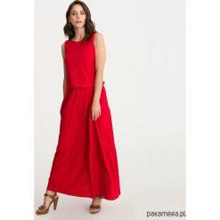 Sukienka BOHEMA czerwona długa. Czerwone długie sukienki marki Pakamera, z wiskozy, z długim rękawem. Za 209,00 zł.