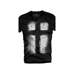 T-shirt UNDERWORLD Organic Cotton Krzyż. Szare t-shirty męskie z nadrukiem marki Underworld, m, z bawełny. Za 69,99 zł.