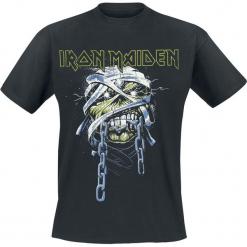 Iron Maiden Powerslave Head T-Shirt czarny. Czarne t-shirty męskie Iron Maiden, l, z nadrukiem, z okrągłym kołnierzem. Za 74,90 zł.