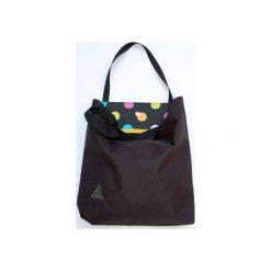 Torba basic czarna. Czarne torebki klasyczne damskie drops, w paski, z bawełny. Za 95,00 zł.