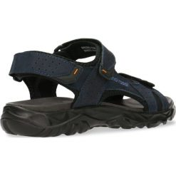 Sandały CREE. Niebieskie sandały męskie skórzane Gino Rossi, na rzepy. Za 99,90 zł.