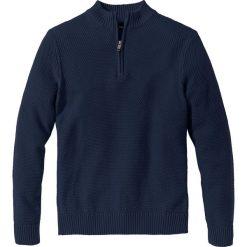 Sweter ze stójką Regular Fit bonprix ciemnoniebieski. Niebieskie golfy męskie marki bonprix, l, z dzianiny. Za 74,99 zł.