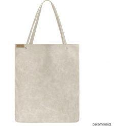 Shopper XL torba beżowa na zamek. Brązowe shopper bag damskie Pakamera, na ramię. Za 155,00 zł.