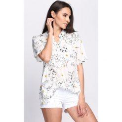 T-shirty damskie: Biały T-shirt Emerald Rush