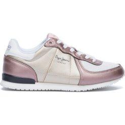 Tenisówki Sydney Metal. Żółte buty sportowe dziewczęce marki Pepe Jeans, z kauczuku, na sznurówki. Za 306,56 zł.