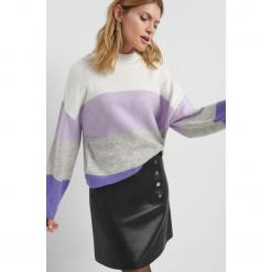 Sweter oversize w pasy. Brązowe swetry oversize damskie marki Orsay, s, z dzianiny. Za 99,99 zł.