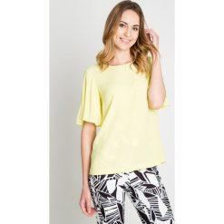 Bluzki, topy, tuniki: Luźna żółta bluzka z szerokimi rękawami BIALCON