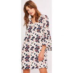 Vero Moda - Sukienka. Niebieskie sukienki mini marki Vero Moda, z bawełny. W wyprzedaży za 99,90 zł.