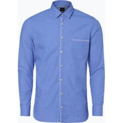 BOSS Casual - Koszula męska – Magneton, niebieski. Niebieskie koszule męskie na spinki BOSS Casual, m, z kontrastowym kołnierzykiem. Za 399,95 zł.