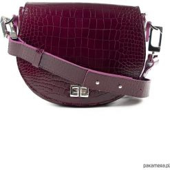 Torebka półokrągła Burgundissimo Croco. Brązowe torebki klasyczne damskie Pakamera, ze skóry, duże. Za 440,00 zł.