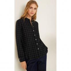 Mango - Koszula Cross. Szare koszule damskie w kratkę Mango, l, z bawełny, ze stójką, z długim rękawem. Za 119,90 zł.